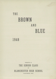 Page 7, 1948 Edition, Blanchester High School - Brown and Blue Yearbook (Blanchester, OH) online yearbook collection