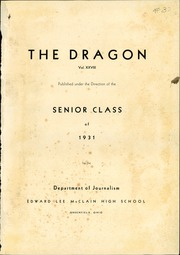 Page 3, 1931 Edition, McClain High School - Dragon Yearbook (Greenfield, OH) online yearbook collection