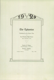 Page 5, 1929 Edition, East Palestine High School - Ephanian Yearbook (East Palestine, OH) online yearbook collection