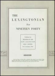 Page 7, 1940 Edition, New Lexington High School - Lexingtonian Yearbook (New Lexington, OH) online yearbook collection