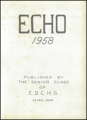 Page 5, 1958 Edition, Elyria District Catholic High School - Echo Yearbook (Elyria, OH) online yearbook collection