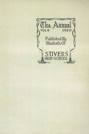 Page 7, 1920 Edition, Stivers High School - Annual Yearbook (Dayton, OH) online yearbook collection