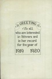 Page 8, 1920 Edition, Stivers High School - Annual Yearbook (Dayton, OH) online yearbook collection
