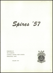 Page 5, 1957 Edition, Catholic Central High School - Spires Yearbook (Springfield, OH) online yearbook collection