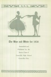 Page 7, 1926 Edition, Granville High School - Blue and White Yearbook (Granville, OH) online yearbook collection