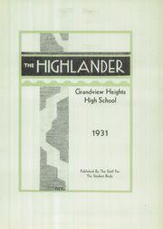 Page 7, 1931 Edition, Grandview Heights High School - Highlander Yearbook (Columbus, OH) online yearbook collection