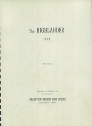 Page 5, 1939 Edition, Grandview Heights High School - Highlander Yearbook (Columbus, OH) online yearbook collection