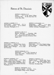 Page 15, 1953 Edition, St Vincent High School - Shamrock Yearbook (Akron, OH) online yearbook collection