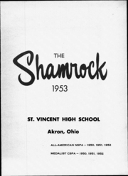 Page 5, 1953 Edition, St Vincent High School - Shamrock Yearbook (Akron, OH) online yearbook collection