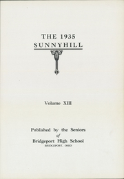Page 7, 1935 Edition, Bridgeport High School - Sunnyhill Yearbook (Bridgeport, OH) online yearbook collection