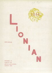 Page 7, 1948 Edition, Lincoln High School - Lionian Yearbook (Canton, OH) online yearbook collection