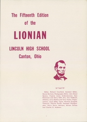 Page 5, 1957 Edition, Lincoln High School - Lionian Yearbook (Canton, OH) online yearbook collection