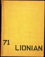 1971 Edition, Lincoln High School - Lionian Yearbook (Canton, OH)