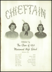 Page 5, 1952 Edition, Mariemont High School - Chieftain Yearbook (Mariemont, OH) online yearbook collection