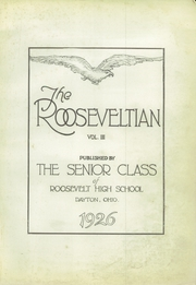 Page 7, 1926 Edition, Roosevelt High School - Teddy Memory Yearbook (Dayton, OH) online yearbook collection