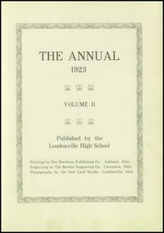 Page 5, 1923 Edition, Loudonville High School - Annual Yearbook (Loudonville, OH) online yearbook collection