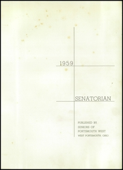 Page 5, 1959 Edition, Portsmouth West High School - Senatorian Yearbook (West Portsmouth, OH) online yearbook collection