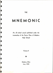 Page 5, 1939 Edition, Madeira High School - Mnemonic Yearbook (Madeira, OH) online yearbook collection