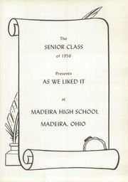 Page 5, 1956 Edition, Madeira High School - Mnemonic Yearbook (Madeira, OH) online yearbook collection