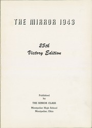 Page 5, 1943 Edition, Montpelier High School - Mirror Yearbook (Montpelier, OH) online yearbook collection
