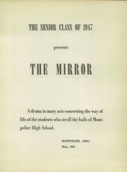 Page 5, 1947 Edition, Montpelier High School - Mirror Yearbook (Montpelier, OH) online yearbook collection