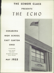 Page 5, 1955 Edition, East Canton High School - Echo Yearbook (East Canton, OH) online yearbook collection