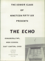 Page 5, 1956 Edition, East Canton High School - Echo Yearbook (East Canton, OH) online yearbook collection