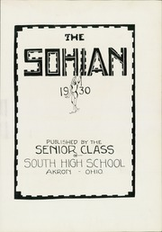 Page 9, 1930 Edition, South High School - Sohian Yearbook (Akron, OH) online yearbook collection