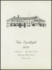 Page 5, 1958 Edition, Kinsman High School - Spotlight Yearbook (Kinsman, OH) online yearbook collection