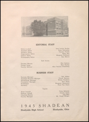 Page 9, 1945 Edition, Shadyside High School - Shadean Yearbook (Shadyside, OH) online yearbook collection