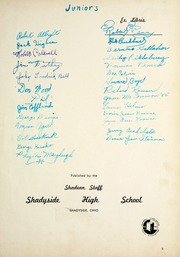 Page 5, 1951 Edition, Shadyside High School - Shadean Yearbook (Shadyside, OH) online yearbook collection