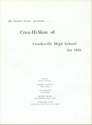 Page 5, 1961 Edition, Crooksville High School - Crux Hi Skan Yearbook (Crooksville, OH) online yearbook collection