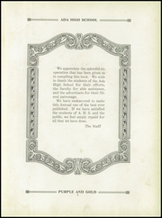 Page 7, 1926 Edition, Ada High School - We Yearbook (Ada, OH) online yearbook collection