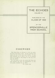 Page 5, 1935 Edition, Spencerville High School - Echoes Yearbook (Spencerville, OH) online yearbook collection