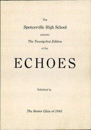 Page 5, 1945 Edition, Spencerville High School - Echoes Yearbook (Spencerville, OH) online yearbook collection