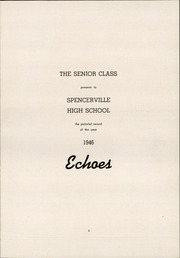 Page 5, 1946 Edition, Spencerville High School - Echoes Yearbook (Spencerville, OH) online yearbook collection
