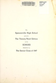 Page 5, 1947 Edition, Spencerville High School - Echoes Yearbook (Spencerville, OH) online yearbook collection