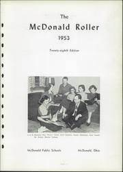 Page 7, 1953 Edition, McDonald High School - Roller Yearbook (McDonald, OH) online yearbook collection