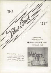 Page 5, 1954 Edition, Archbold High School - Blue Streak Yearbook (Archbold, OH) online yearbook collection
