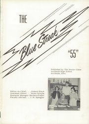 Page 5, 1955 Edition, Archbold High School - Blue Streak Yearbook (Archbold, OH) online yearbook collection