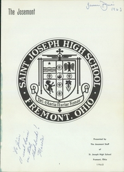 Page 5, 1962 Edition, St Joseph High School - Josemont Yearbook (Fremont, OH) online yearbook collection