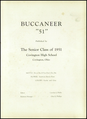 Page 5, 1951 Edition, Covington High School - Buccaneers Yearbook (Covington, OH) online yearbook collection