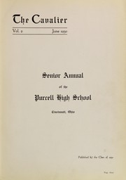 Page 7, 1930 Edition, Purcell High School - Cavalier Yearbook (Cincinnati, OH) online yearbook collection