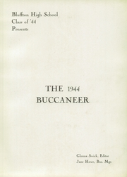 Page 5, 1944 Edition, Bluffton High School - Buccaneer Yearbook (Bluffton, OH) online yearbook collection