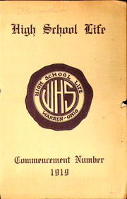 1919 Edition, Warren High School - Echoes Yearbook (Warren, OH)