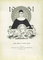 Page 7, 1931 Edition, Holy Name High School - Namer Yearbook (Cleveland, OH) online yearbook collection