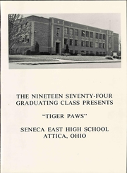 Page 3, 1974 Edition, Seneca East High School - Tiger Paws Yearbook (Attica, OH) online yearbook collection