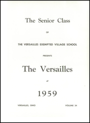 Page 5, 1959 Edition, Versailles High School - Yearbook (Versailles, OH) online yearbook collection