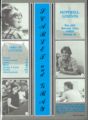 Page 5, 1982 Edition, Hopewell Loudon High School - Scarlet and Grey Yearbook (Bascom, OH) online yearbook collection