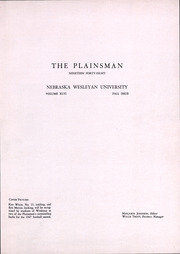 Page 3, 1948 Edition, Nebraska Wesleyan University - Plainsman Yearbook (Lincoln, NE) online yearbook collection